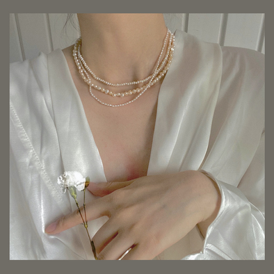Niche Irregular Pearl Design Necklace