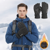 Winter Black Leather Gloves