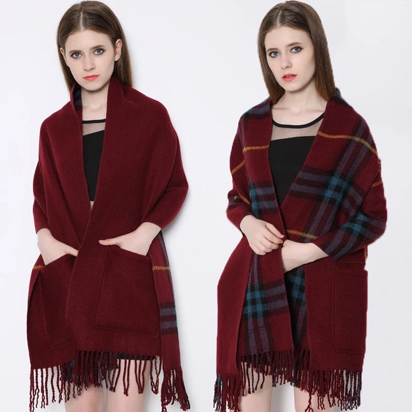 Soft Imitation Cashmere Women Shawl Scarf