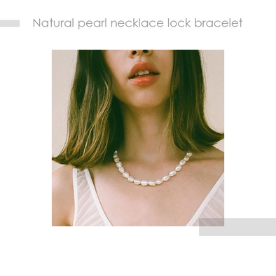 Natural Pearl Necklace And Bracelet