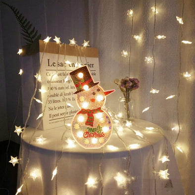 Christmas DIY Diamond Painting Lamp