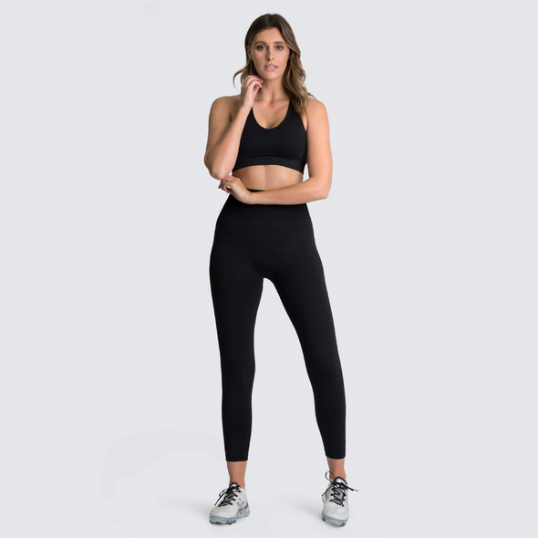 Seamless Gym Women Athletic Yoga Set