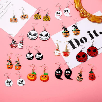 Original Illustration Style Halloween Series Earrings