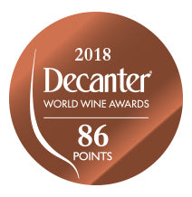 DWWA 2018 Bronze 86 Points - Printed in rolls of 1000 stickers