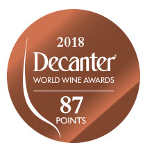 DWWA 2018 Bronze 87 Points - Printed in rolls of 1000 stickers