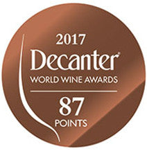DWWA 2017 Bronze 87 Points - Printed in rolls of 1000 stickers