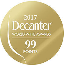 DWWA 2017 Gold 99 Points - Printed in rolls of 1000 stickers