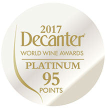 DWWA 2017 Platinum 95 Points - Printed in rolls of 1000 stickers