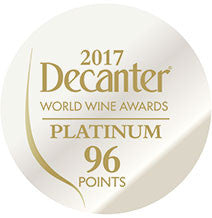 DWWA 2017 Platinum 96 Points - Printed in rolls of 1000 stickers