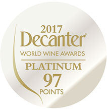 DWWA 2017 Platinum 97 Points - Printed in rolls of 1000 stickers