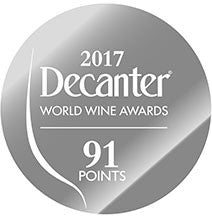 DWWA 2017 Silver 91 Points - Printed in rolls of 1000 stickers