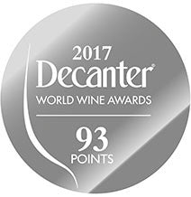 DWWA 2017 Silver 93 Points - Printed in rolls of 1000 stickers