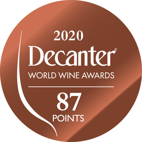 DWWA 2020 Bronze 87 Points - Printed in rolls of 1000 stickers