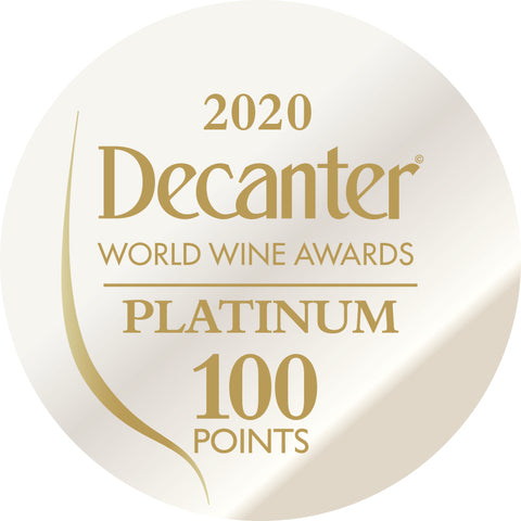 DWWA 2020 Platinum 100 Points - Printed in rolls of 1000 stickers