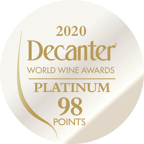 DWWA 2020 Platinum 98 Points - Printed in rolls of 1000 stickers