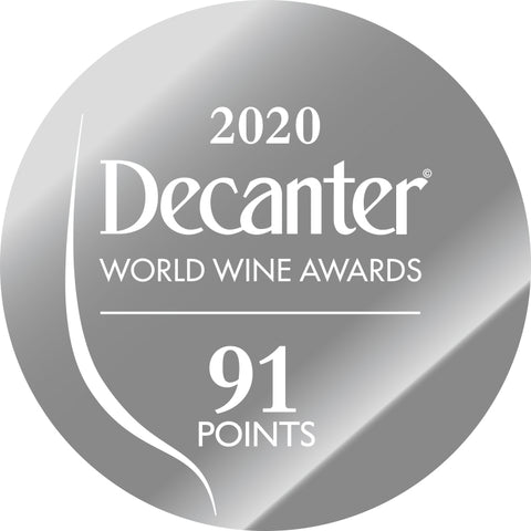 DWWA 2020 Silver 91 Points - Printed in rolls of 1000 stickers