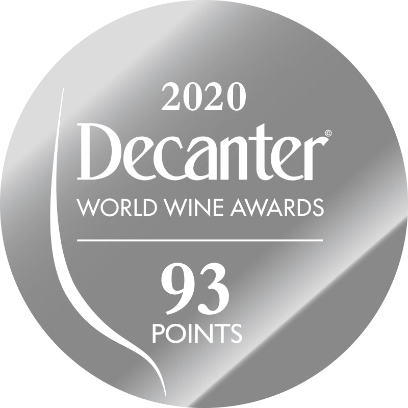DWWA 2020 Silver 93 Points - Printed in rolls of 1000 stickers