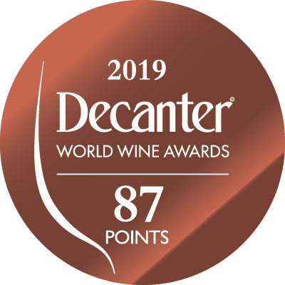 DWWA 2019 Bronze 87 Points - Printed in rolls of 1000 stickers
