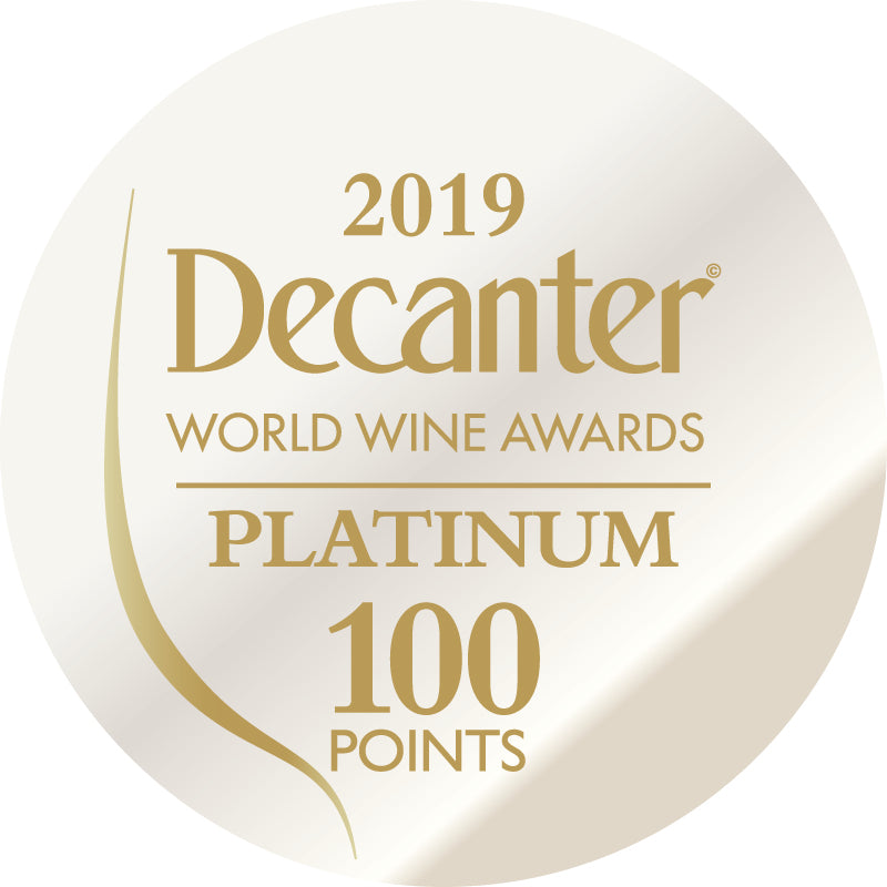 DWWA 2019 Platinum 100 Points - Printed in rolls of 1000 stickers