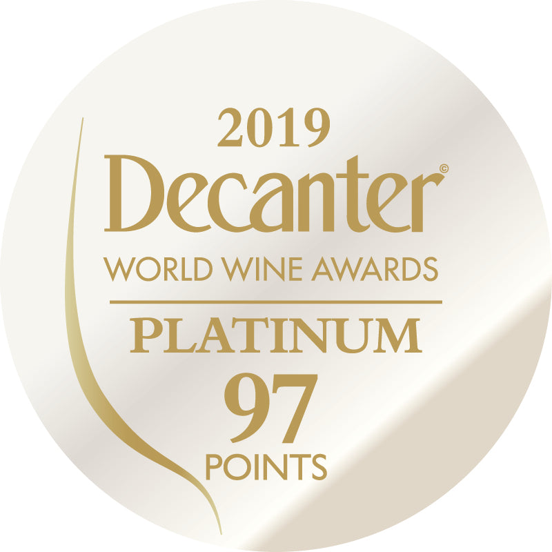 DWWA 2019 Platinum 97 Points - Printed in rolls of 1000 stickers