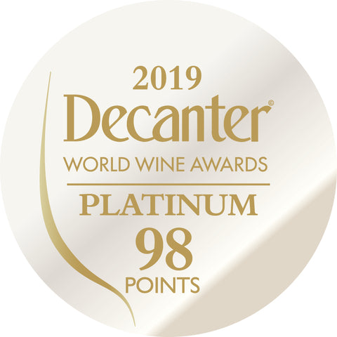 DWWA 2019 Platinum 98 Points - Printed in rolls of 1000 stickers