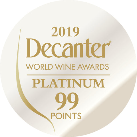 DWWA 2019 Platinum 99 Points - Printed in rolls of 1000 stickers