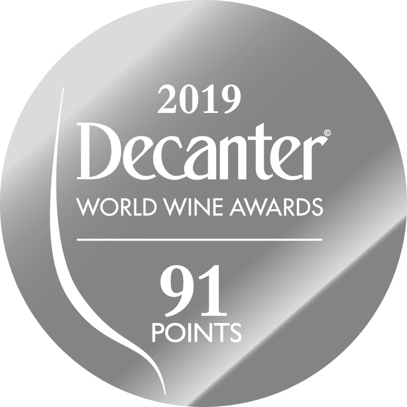 DWWA 2019 Silver 91 Points - Printed in rolls of 1000 stickers