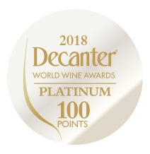 DWWA 2018 Platinum 100 Points - Printed in rolls of 1000 stickers