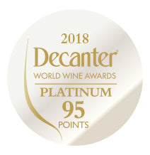 DWWA 2018 Platinum 95 Points - Printed in rolls of 1000 stickers