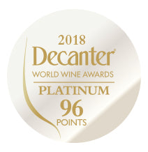 DWWA 2018 Platinum 96 Points - Printed in rolls of 1000 stickers