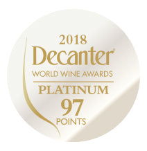 DWWA 2018 Platinum 97 Points - Printed in rolls of 1000 stickers