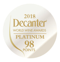 DWWA 2018 Platinum 98 Points - Printed in rolls of 1000 stickers