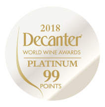 DWWA 2018 Platinum 99 Points - Printed in rolls of 1000 stickers