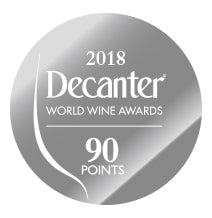 DWWA 2018 Silver 90 Points - Printed in rolls of 1000 stickers