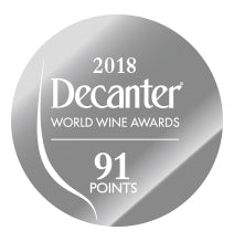 DWWA 2018 Silver 91 Points - Printed in rolls of 1000 stickers
