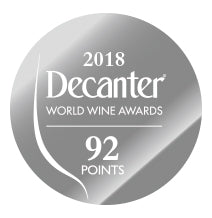 DWWA 2018 Silver 92 Points - Printed in rolls of 1000 stickers