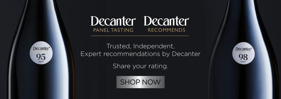 Decanter Recommends Stickers
