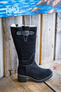 BOS & CO - Suede black winer boot