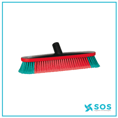 VIKAN Vehicle Brush, Water-Fed, 370mm, Soft/Split, Black