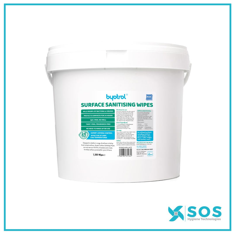 BYOTROL SURFACE SANITISING WIPES - 1500pcs.