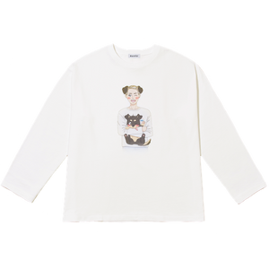 MILES LONG T-SHIRT white