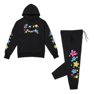 SMILE SWEAT SET black