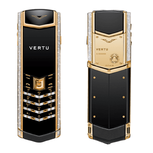 Vertu Signature S Gold Pave Baguette Diamonds
