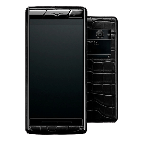 vertu aster black alligator