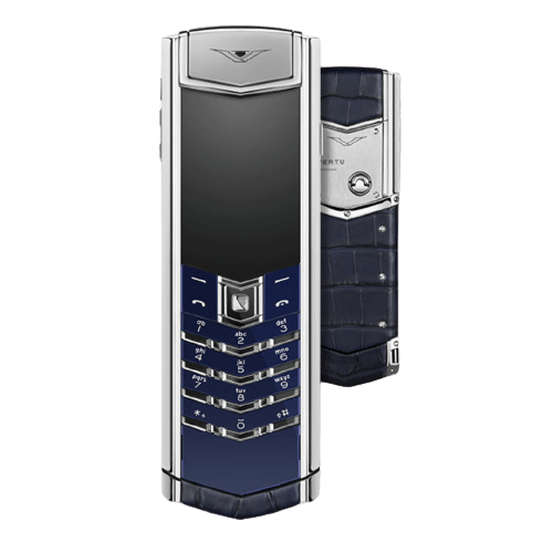 vertu signature s navy blue alligator