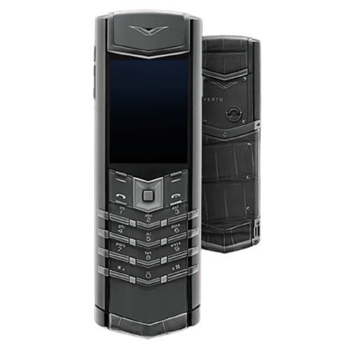 vertu signature s zirconium alligator