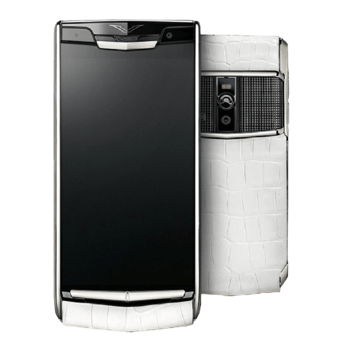 vertu signature touch clous de paris white alligator