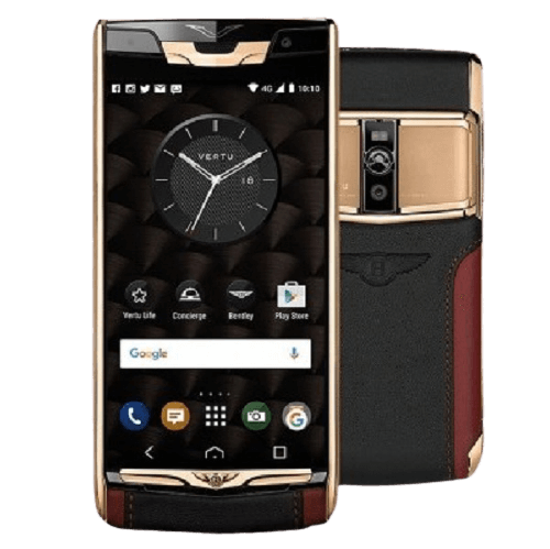 vertu signature touch for bentley edition rose gold