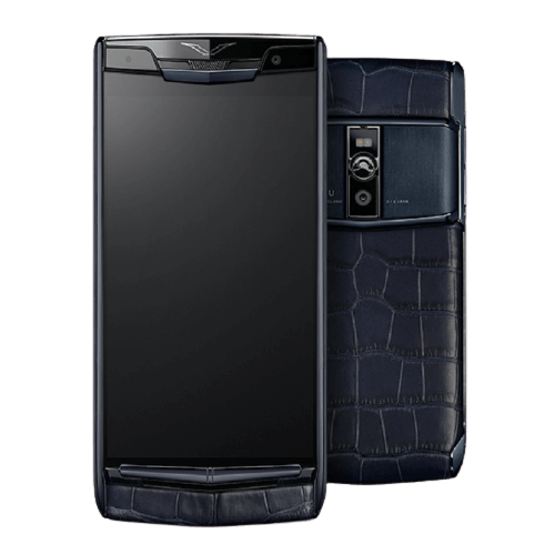 vertu signature touch pure navy blue alligator