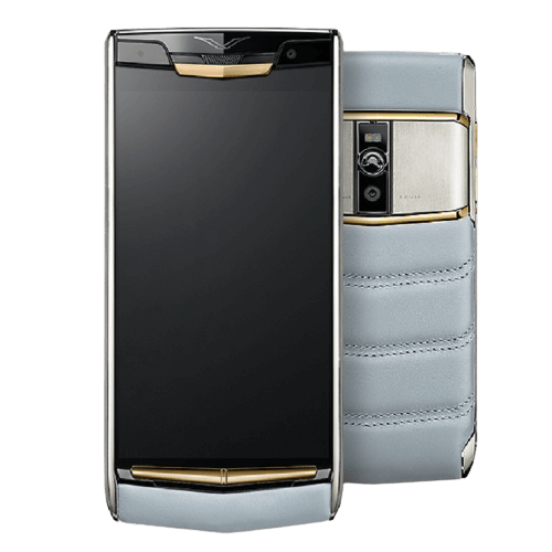 vertu signature touch sky blue red gold